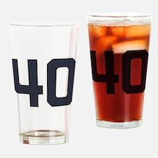 40 40th Birthday 1975 1940 75 Years Drinking Glass