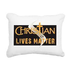 Christian Lives Matter Rectangular Canvas Pillow