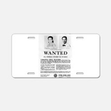 Virginia Hill Wanted Aluminum License Plate