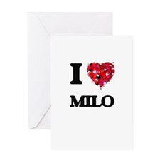 I Love Milo Greeting Cards