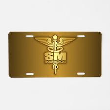 Sports Medicine Aluminum License Plate