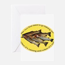 Unique Fisherman birthday Greeting Card
