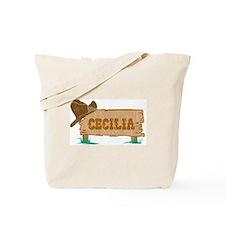 Cecilia western Tote Bag