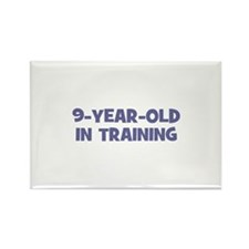 9-Year-Old In Training Rectangle Magnet