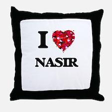 I Love Nasir Throw Pillow