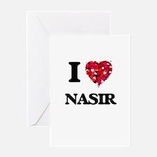I Love Nasir Greeting Cards