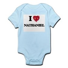 I Love Nathaniel Body Suit