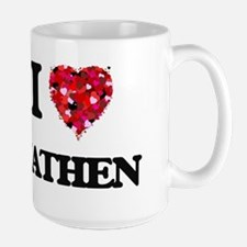 I Love Nathen Mugs