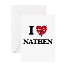 I Love Nathen Greeting Cards