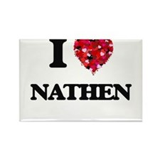I Love Nathen Magnets