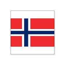 "Unique Norway flag Square Sticker 3"" x 3"""
