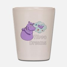 Cute Funny hippo Shot Glass