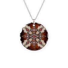 Unique Native american Necklace Circle Charm