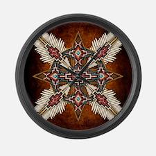 Cute Native american Large Wall Clock