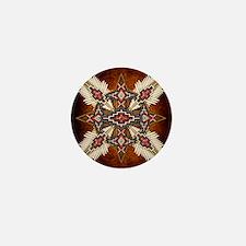 Unique American indian Mini Button