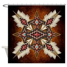 Cute American indians Shower Curtain