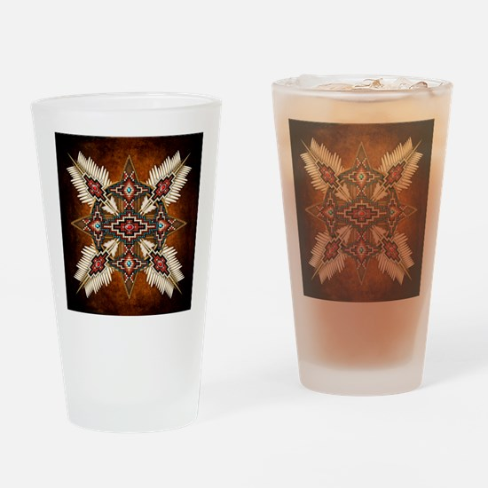 Cute Native american indian Drinking Glass