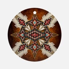 Cute American indian Round Ornament