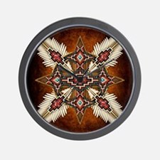 Unique Native american Wall Clock