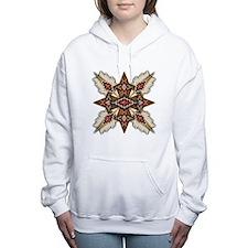 Native American Style Ma Women's Hooded Sweatshirt