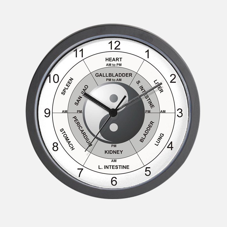 Cute Acupuncture Wall Clock