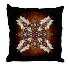 Native American Style Mandala 28 Throw Pillow