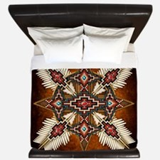 Native American Style Mandala 28 King Duvet