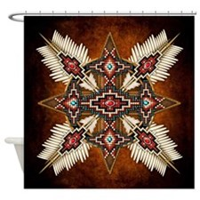 Native American Style Mandala 28 Shower Curtain