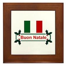 Italian Buon Natale Framed Tile