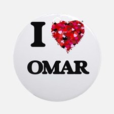 I Love Omar Ornament (Round)