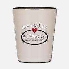 Cute Wilmington north carolina Shot Glass