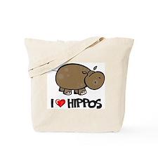I Love Hippo Tote Bag