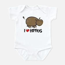 I Love Hippo Infant Bodysuit