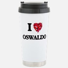 I Love Oswaldo Stainless Steel Travel Mug