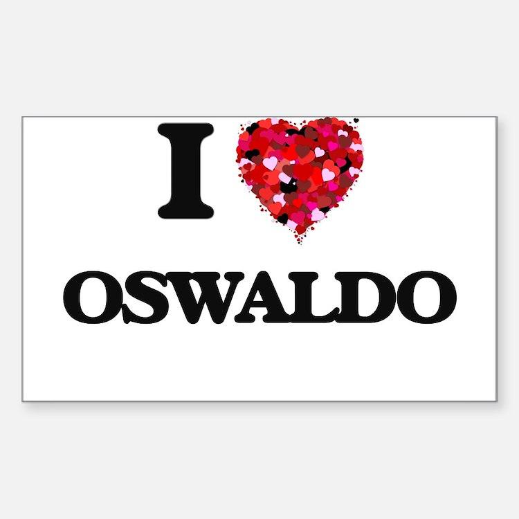 I Love Oswaldo Decal
