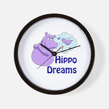 Unique Hippos Wall Clock