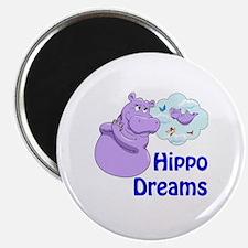 Unique Purple hippos Magnet
