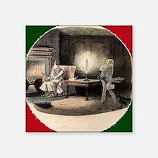 "A Christmas Carol Marley's  Square Sticker 3"" x 3"""