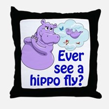 Purple hippos Throw Pillow