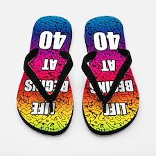 Life Begins At 40 Flip Flops