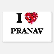 I Love Pranav Decal