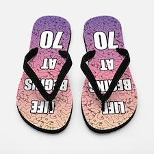 Life Begins At 70 Flip Flops