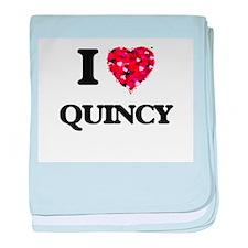 I Love Quincy baby blanket