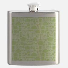 Retro Kitchen Light Green Flask