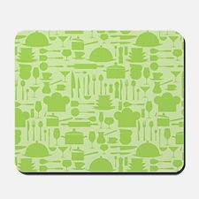 Retro Kitchen Light Green Mousepad