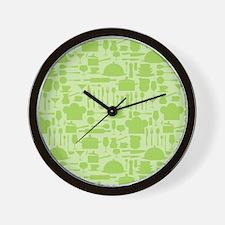 Retro Kitchen Light Green Wall Clock