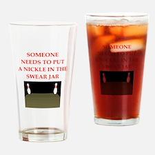 bowling joke Drinking Glass