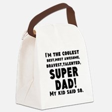 Super Dad Canvas Lunch Bag