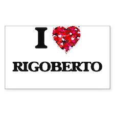 I Love Rigoberto Decal