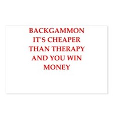 backgammon joke Postcards (Package of 8)